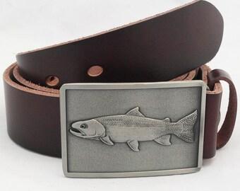 Men Unisex Fishing Fisherman Angler Belt Buckle Cowboy Western