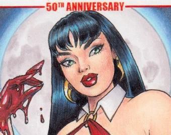 Vampirella 50th Anniversary Artist Proof original sketch card art Dynamite