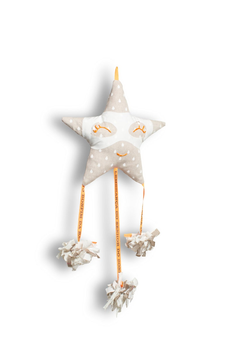Fabric mobile for baby-Super Star Snowflake-Mobile for baby image 0