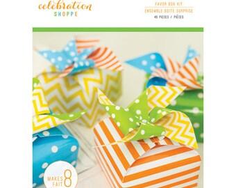Hip Hip Hooray Party Favor Box Kit by Kim Byers Celebration Shoppe