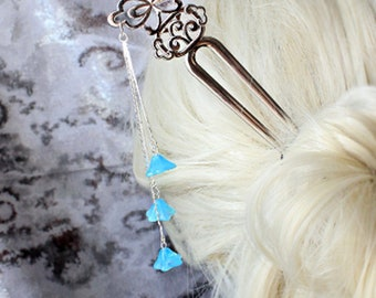bridal hair jewelry hair pin winter wedding accessory blue slide bridesmaid gifts haira stick hair decor butterfly under 25 for sister h17