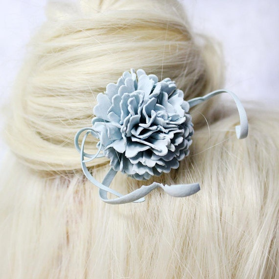 Chopstick Classy Hair Accessory Blue and Grey Hair Stick