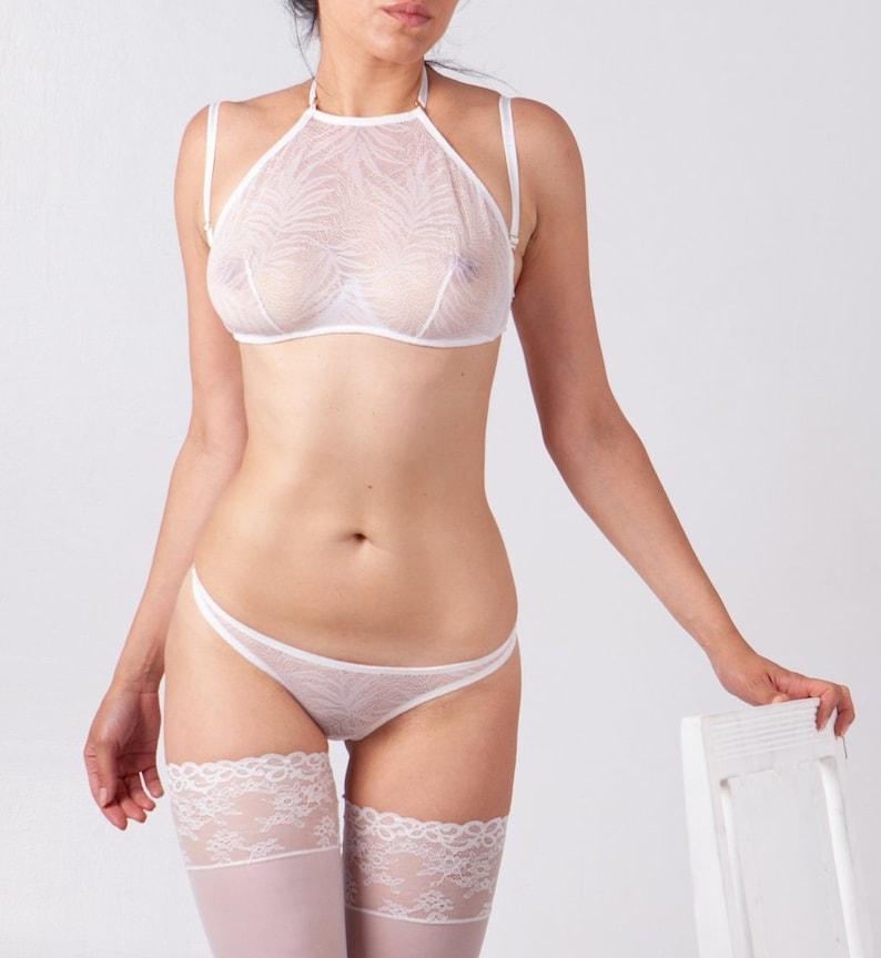 7d720f10035 White lingerie set Lace lingerie set Woman lingerie Woman