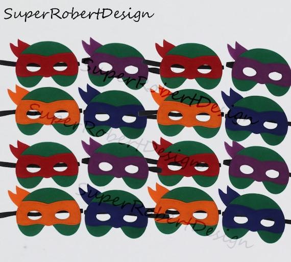 MASK SET Michelangelo Donatello Raphael Leonardo Teenage Mutant Ninja Turtles