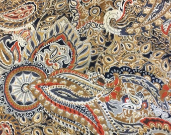 Vintage John Kaldor  Fabric Remnant  RAYON - Paisleys - Stunning  Drapery is just beautifully !!!