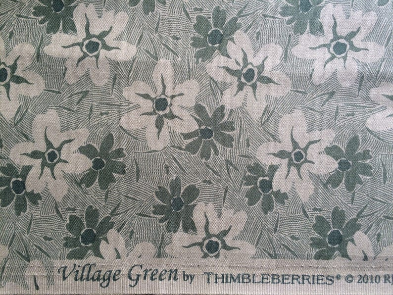 RJR Fabrics ~ Quality Quilting Fabric 100/% cotton 2010 Village Green by Thimbleberries Just stunning