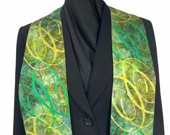 Green Circles Clergy Stole