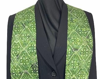 Green Batik Clergy Stole