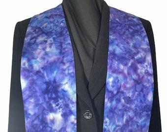 Iris Purple Batik Clergy Stole