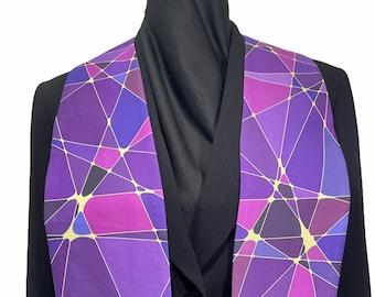 Purple Kaleidoscope Clergy Stole