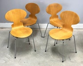 Set 4 Authentic Danish Modern Stacking quot Ant Chairs quot By Arne Jacobsen For Fritz Hansen