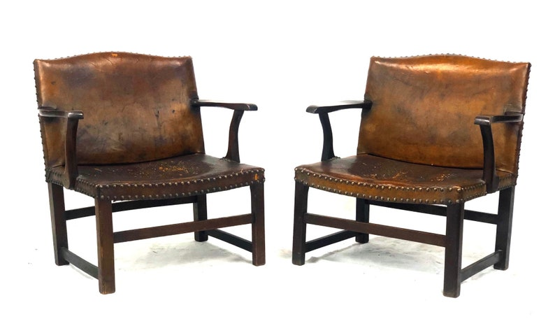 Phenomenal Rare Pair Of Fireplace Leather Arm Chairs By Fredrick Parker Sons Parker Knoll Pdpeps Interior Chair Design Pdpepsorg