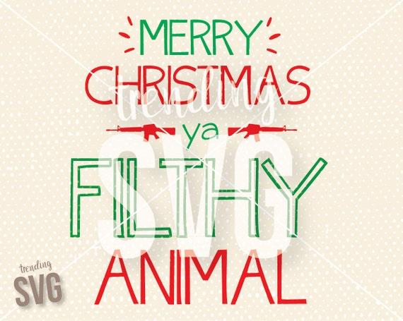 Merry Christmas Ya Filthy Animal Svg.Merry Christmas Ya Filthy Animal Home Alone Svg Cutting File Funny Christmas Movie Cricut Silhouette Png Jpg Instant Download Mug