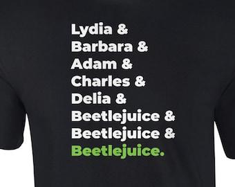 Lydia, Barbara, Adam, Charles, Delia,  Beetlejuice - 80's T-Shirt