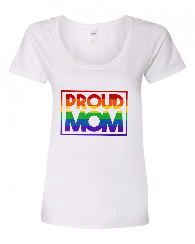 Proud Mom  Gay Pride Shirt image 0