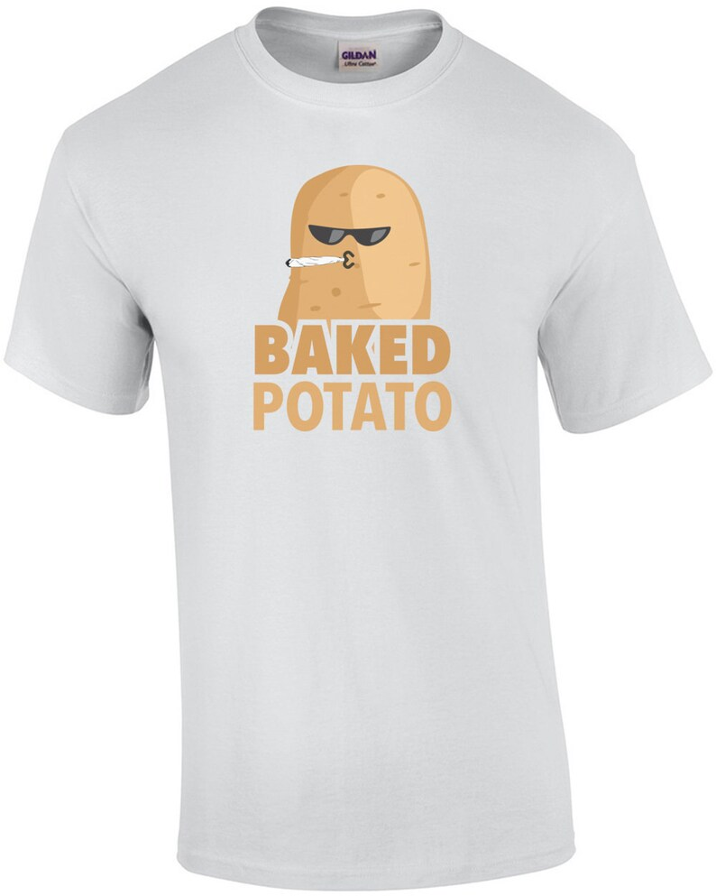 Baked Potato  funny weed t-shirt image 0