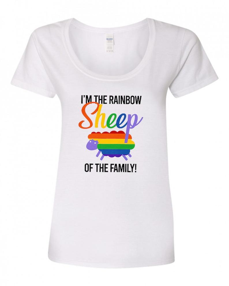 I'm The Rainbow Sheep Of The Family  Gay Pride Shirt image 0