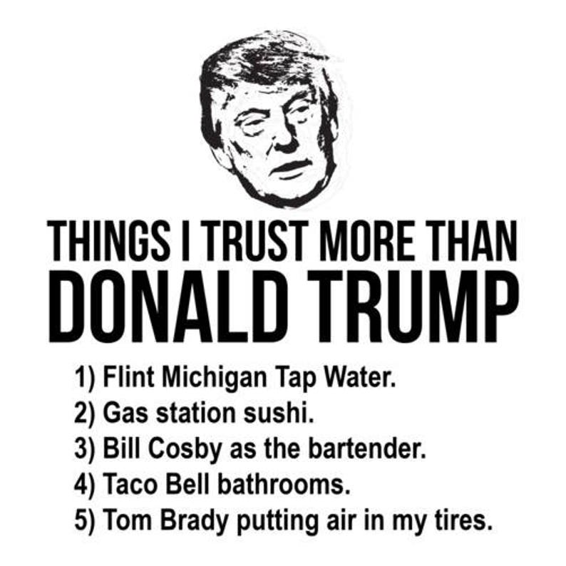 Things I Trust More Than Donald Trump Shirt image 0