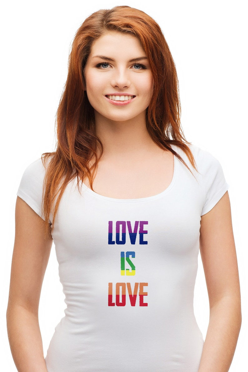Love is Love Rainbow  Gay Pride Shirt image 0