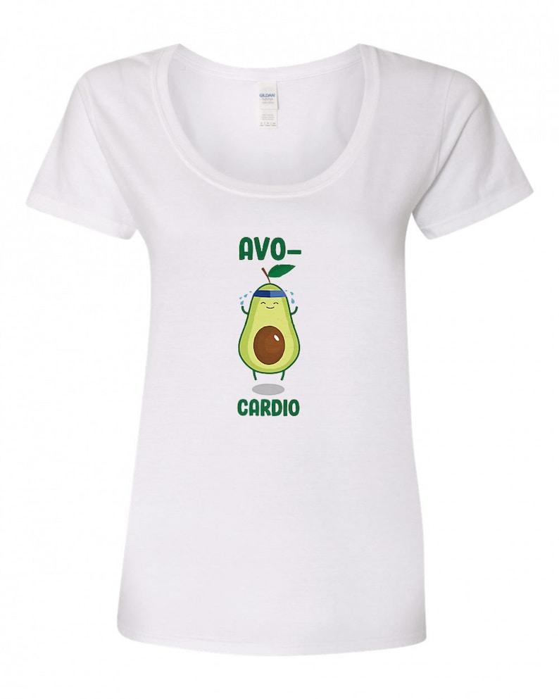 Avo-Cardio  funny exercise shirt  Pun Shirt image 0