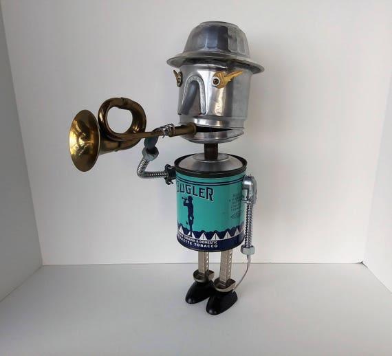 Bugle Boy Robot - Assemblage Art