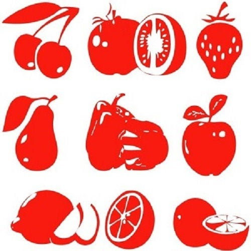 stickers fruit rouge pour cuisine etsy. Black Bedroom Furniture Sets. Home Design Ideas
