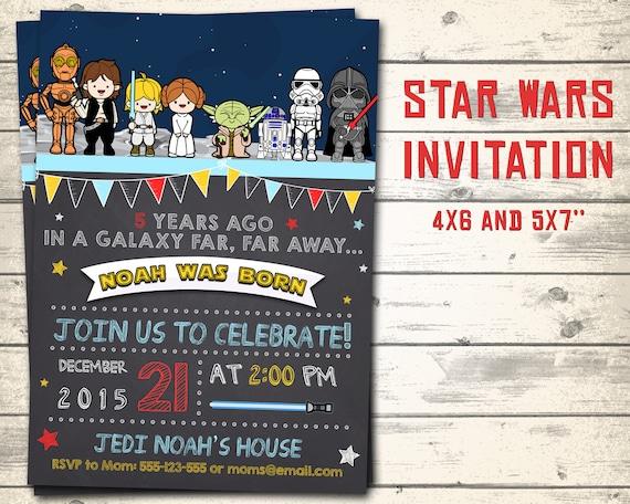 Attractive Star Wars Kids Invitation Star Wars Invitation Star Wars | Etsy