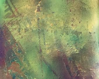 Mini Yupo Painting // Green