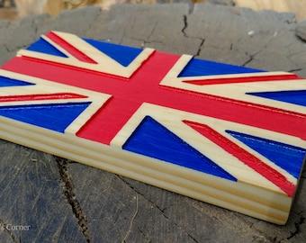 Union Jack Wood Flag | UK Flag, British Wood Flag, United Kingdom Flag, England Flag, Wood Flag, Union Flag, UK Wood Flag, Flag Wall Decor
