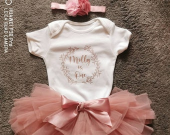 Personalized First birthday outfit girl,Cake Smash Outfit,Baby Girl 1st Birthday tutu,star birthday,Valentines birthday,pink ombr\u00e9 tutu girl