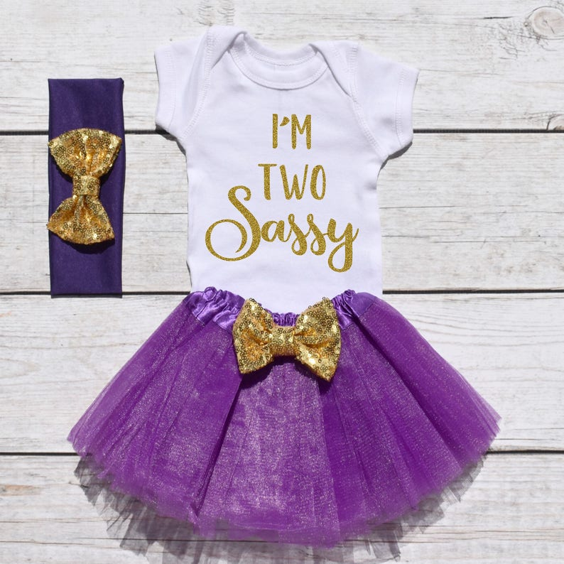 47e1e6577dd5b I'm Two Sassy. Girls Birthday Tutu Outfit. Two Year Old | Etsy