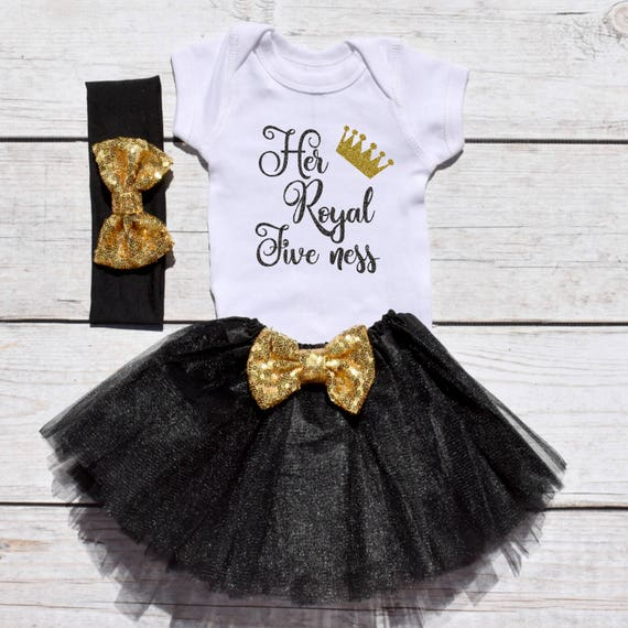 Her Royal Five Ness Girls Birthday Tutu Outfit Year Old