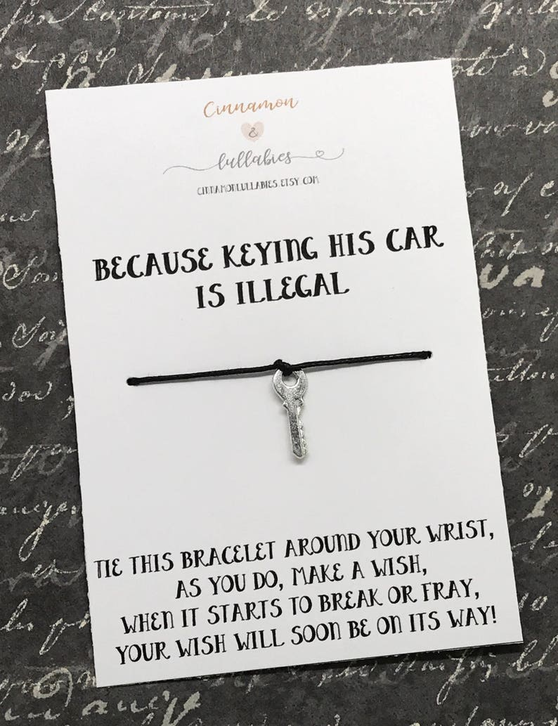 Break up gift Because keying his car is illegal Wish  Charm image 0