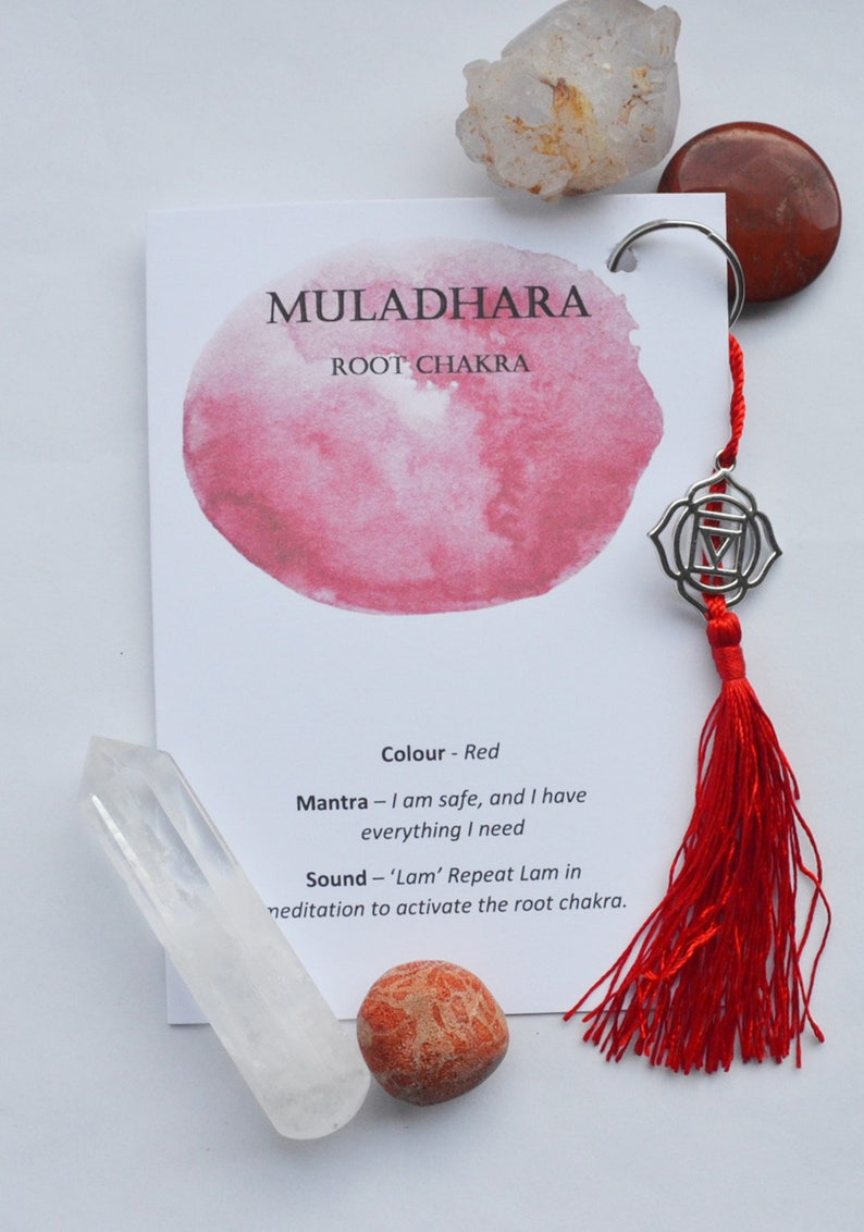 Chakra Key Ring - Root Chakra Charm - Chakra Charm - Meditation Gift