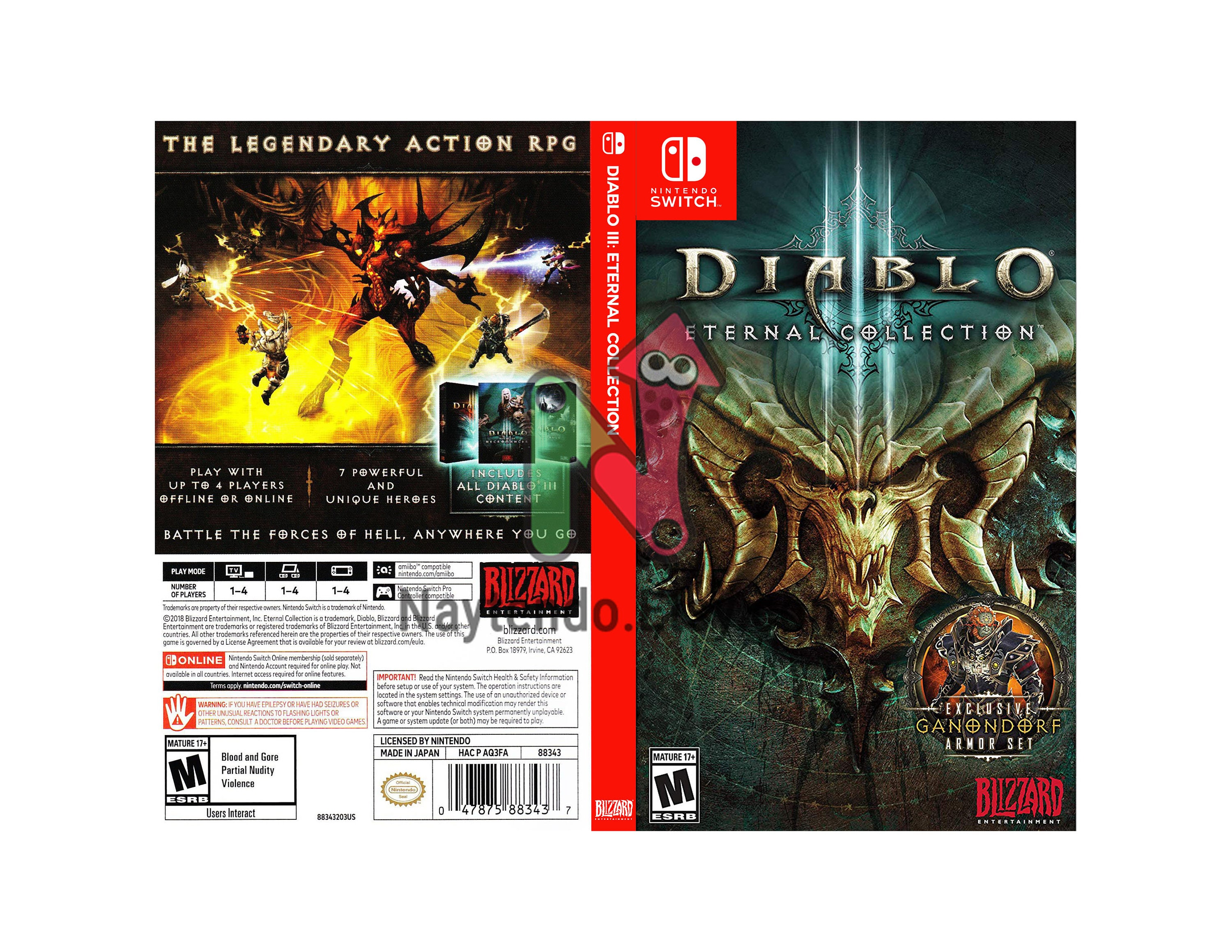Diablo 3 Retail Version Custom Nintendo Switch Art Cover W Etsy