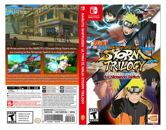 Custom Nintendo Switch Art Cover w/ Game Case - NARUTO SHIPPUDEN: Ultimate  Ninja Storm Trilogy