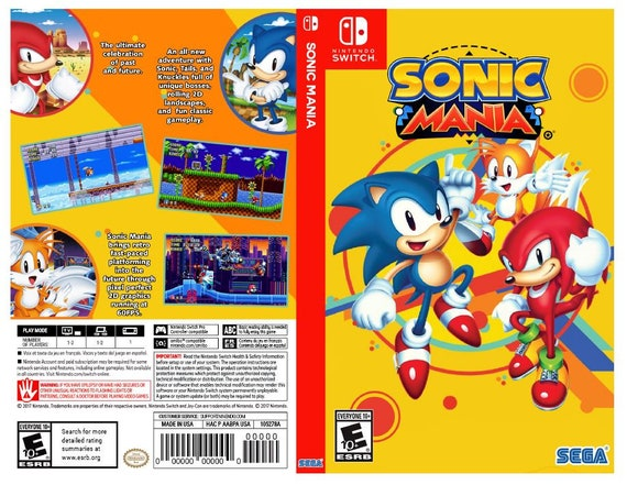 Sonic Mania Custom Nintendo Switch Art Cover W Game Case Etsy