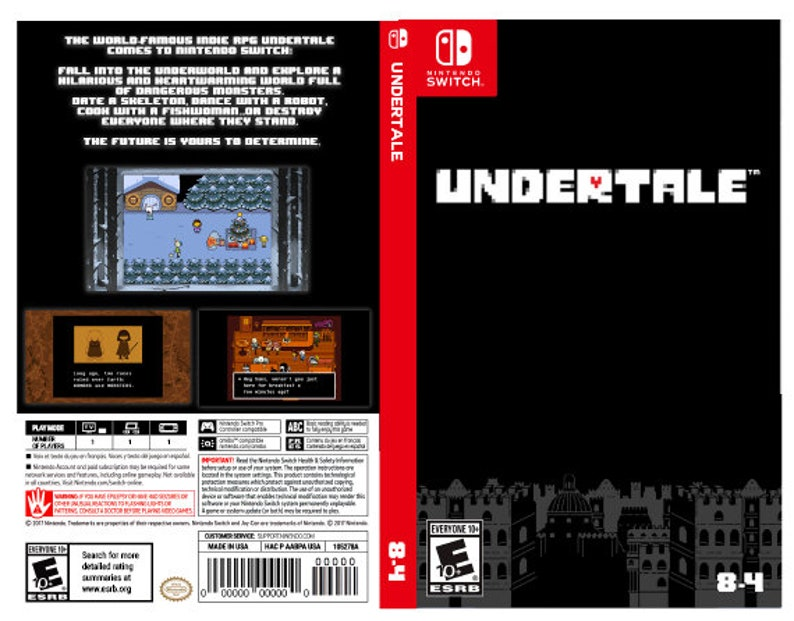 Custom Nintendo Switch Art Cover w/ Game Case Undertale | Etsy