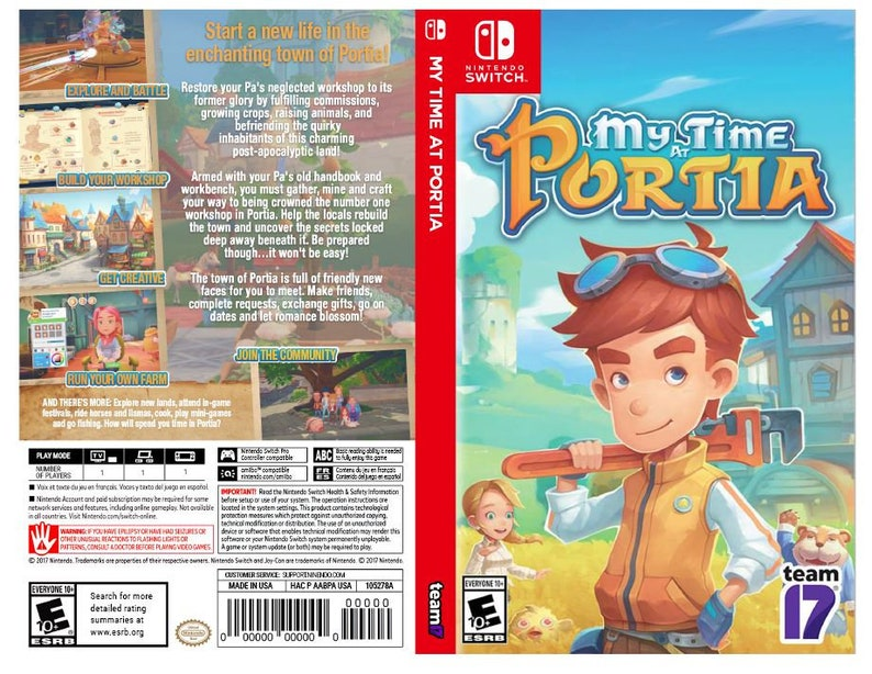 My Time at Portia - Custom Nintendo Switch Art Cover w/ Game Case