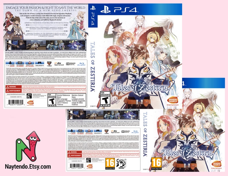 Tales of Zestiria - Custom PS4 Art Cover w/ Game Case