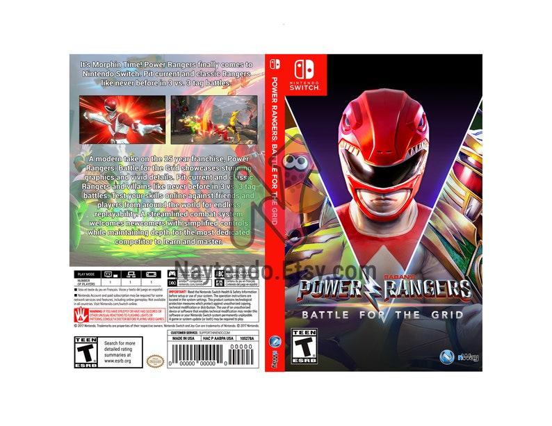 Power Rangers: Battle for the Grid - Custom Nintendo Switch Art Cover w/  Game Case