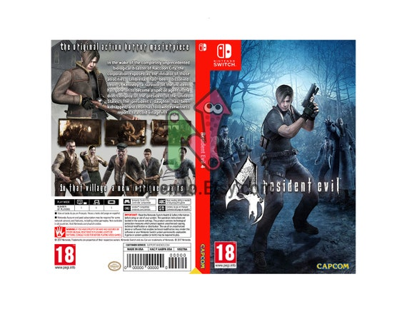Resident Evil 4 Custom Nintendo Switch Art Cover W Game Etsy