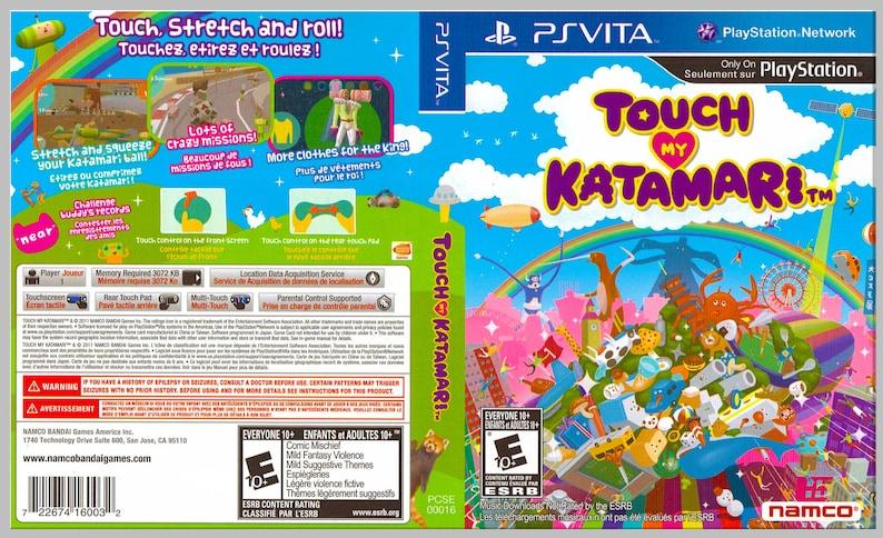 Touch My Catamari - Custom PS Vita Art Cover w/ Game Case