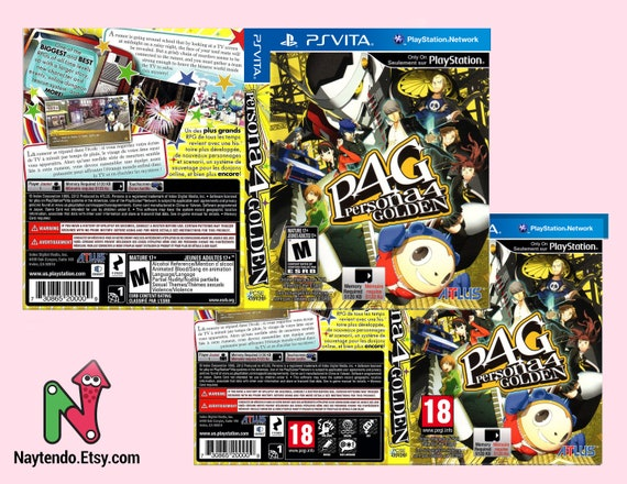 Persona 4 Golden - Custom PS Vita Art Cover w/ Game Case