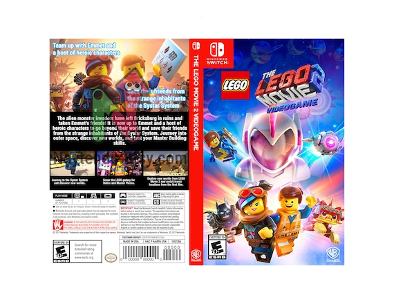 The Lego Movie 2 Videogame Custom Nintendo Switch Art Cover Etsy