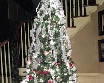 ribbon halo instant christmas tree garland use with your topper create a designer look in minutes matching double bow available