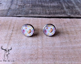 stainless steel, Stud Earrings, coconut and cocktails, summer collection, hypoallergenic earrings