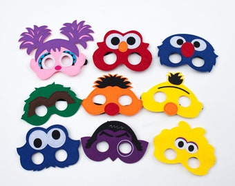 Sesame Street Party Favor Masks Birthday Decorations