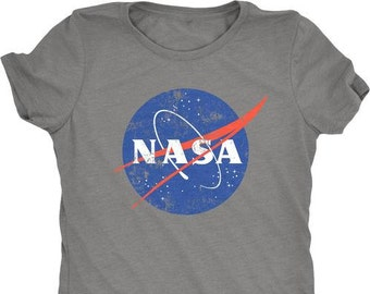 db9d1f5f NASA Distressed Meatball Logo Women's Tri-Blend T-Shirt - Plus sizes  available!