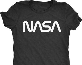 15c92c85e89 NASA 70s Worm Logo Women s Tri-Blend T-Shirt - Plus sizes available!